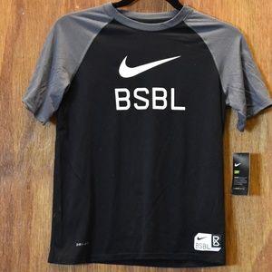 Boy's NIKE Dri-Fit Baseball Shirt, NWT
